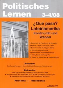 Politisches Lernen 3-4/2008